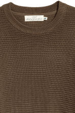 Rib-knit Cotton Sweater - Khaki green - Men | H&M CA 3